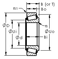 32219 tapered roller bearing cad drawing